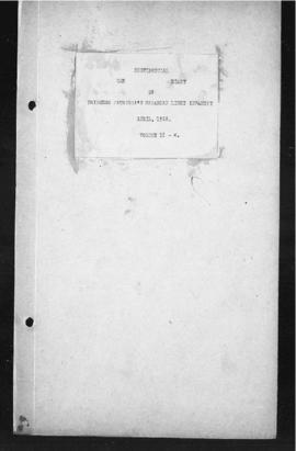 War Diary April 1918-January 1919