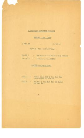 2 Canadian Infantry Brigade Report on Ops Battle for Bagnacavallo 1 Dec 44 - 8 Jan 45
