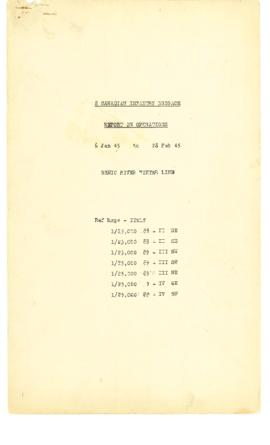 2 Canadian Infantry Brigade Report on Operations 6 Jan 45 to 28 Feb 45 Senio River Winter Line