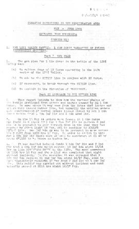 74(6)-1 Canadian Operations in the Mediterranean May - June 1944 Extracts from Memoranda